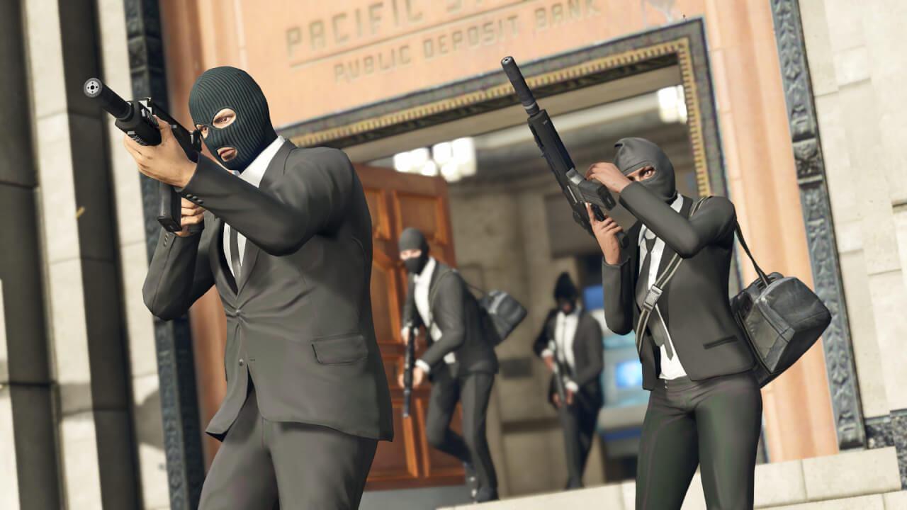 3 Bank robbers hesit!