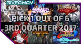 [STEAM HUGE GIVEAWAY #4] Lawbreakers / NBA 2K18 / Marvel vs Capcom: Infinite and more | 3RD QTR 2017