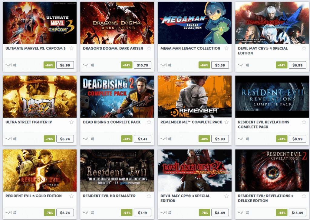 Capcom Weekend Sale 1