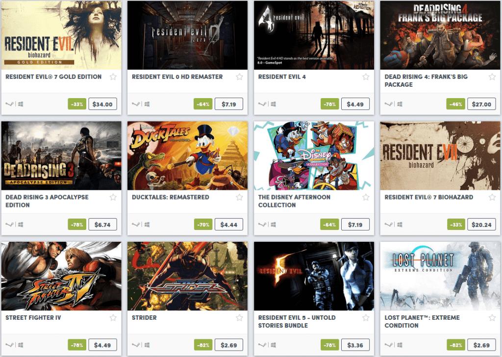 Capcom Weekend Sale 2