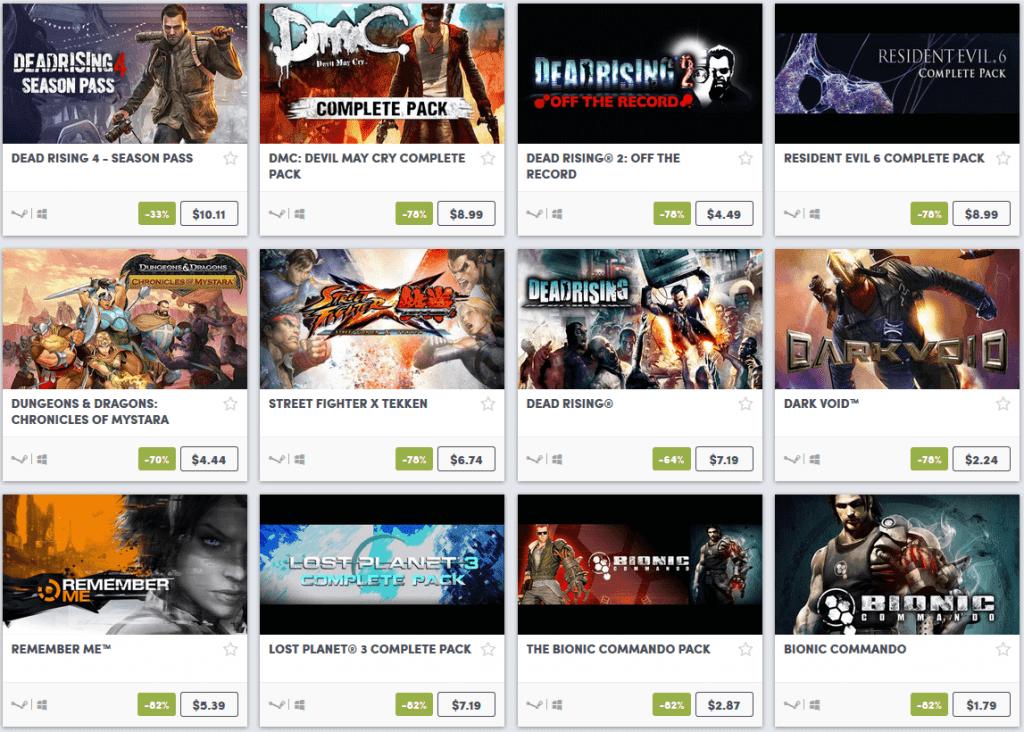Capcom Weekend Sale 3