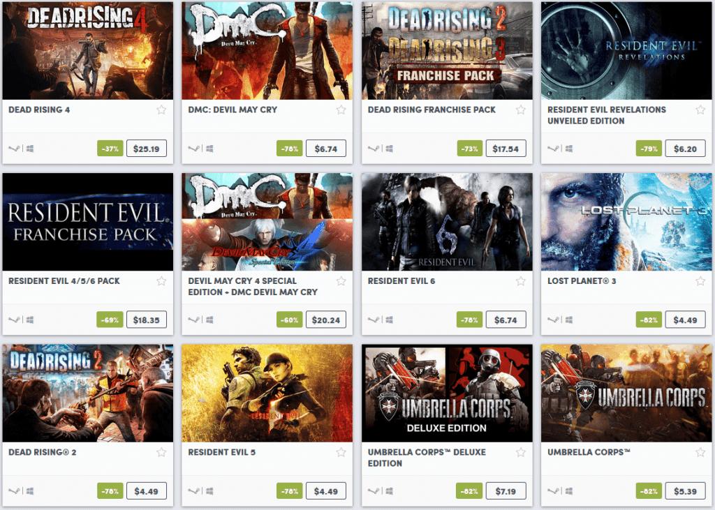 Capcom Weekend Sale 4