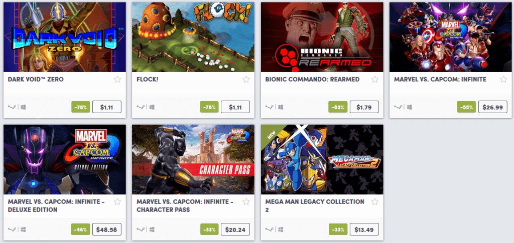 Capcom Weekend Sale 5