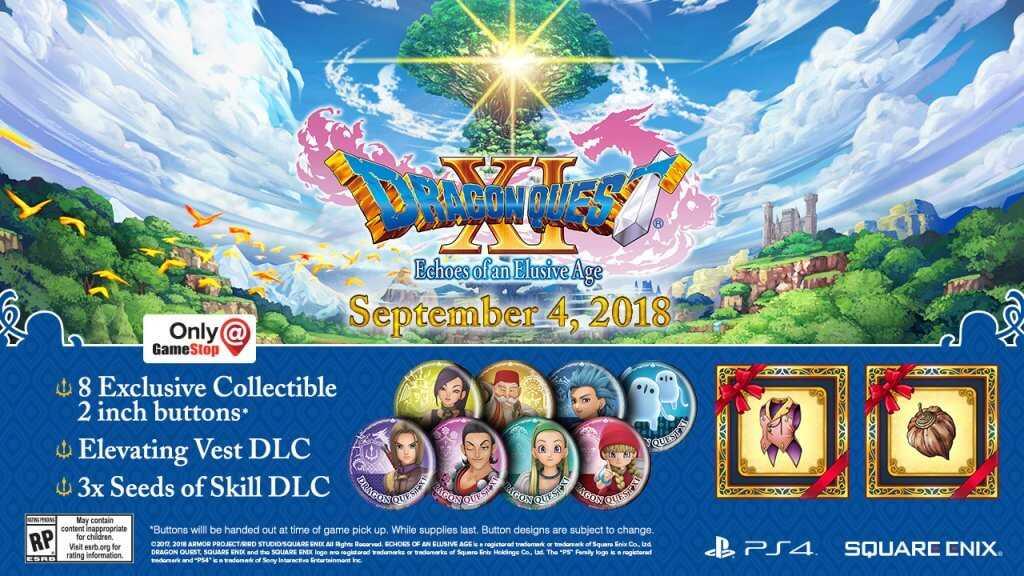 Dragon Quest XI Pre-order Exclusives Gamestop