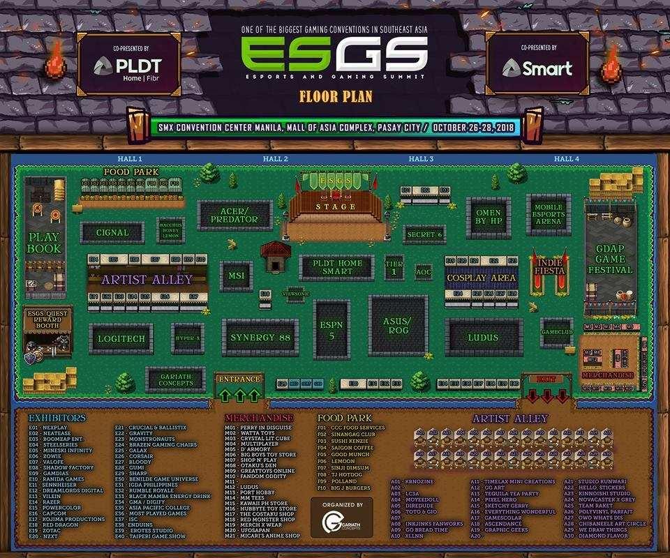 ESGS 2018 floor plan