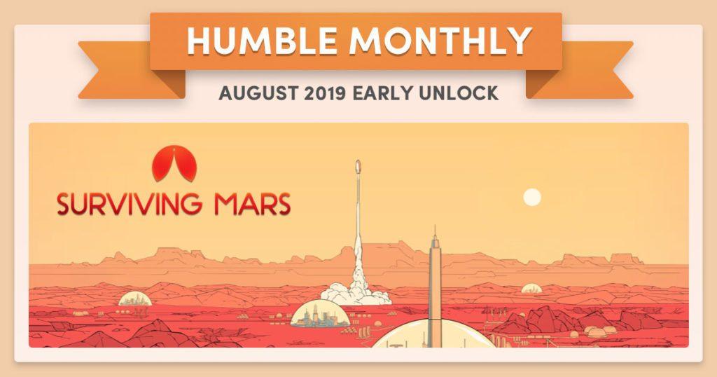 Humble Bundle Early Unlock August 2019 Surviving Mars