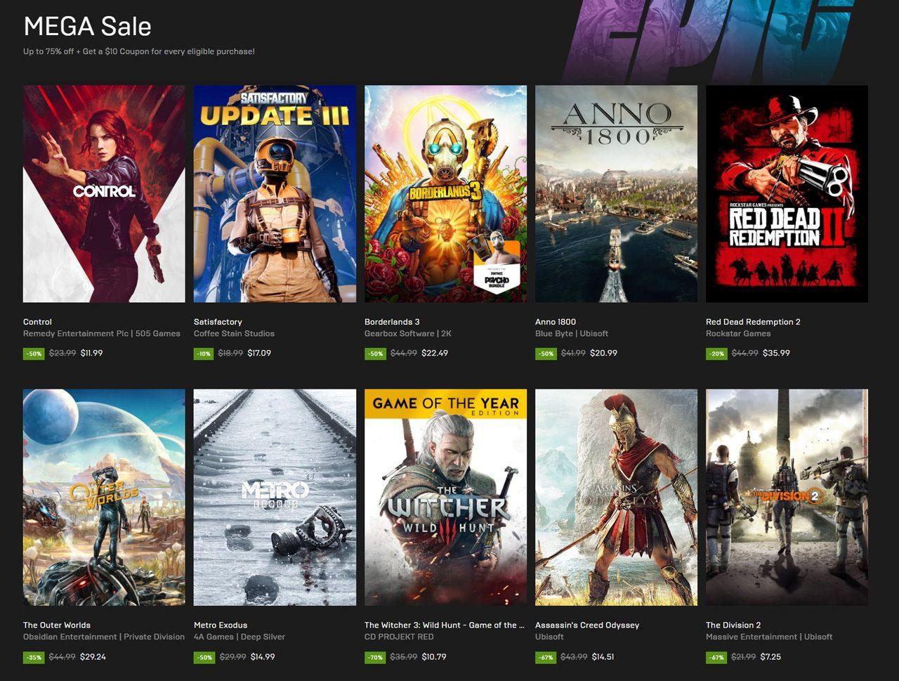 Epic Games Mega Sale 01
