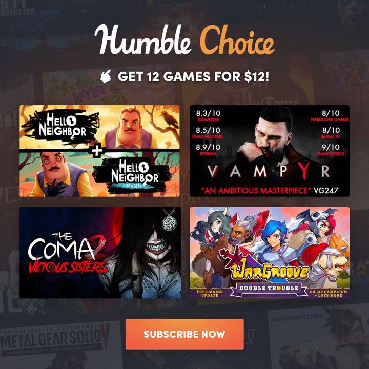 Humble Choice August 2020 Sidebar